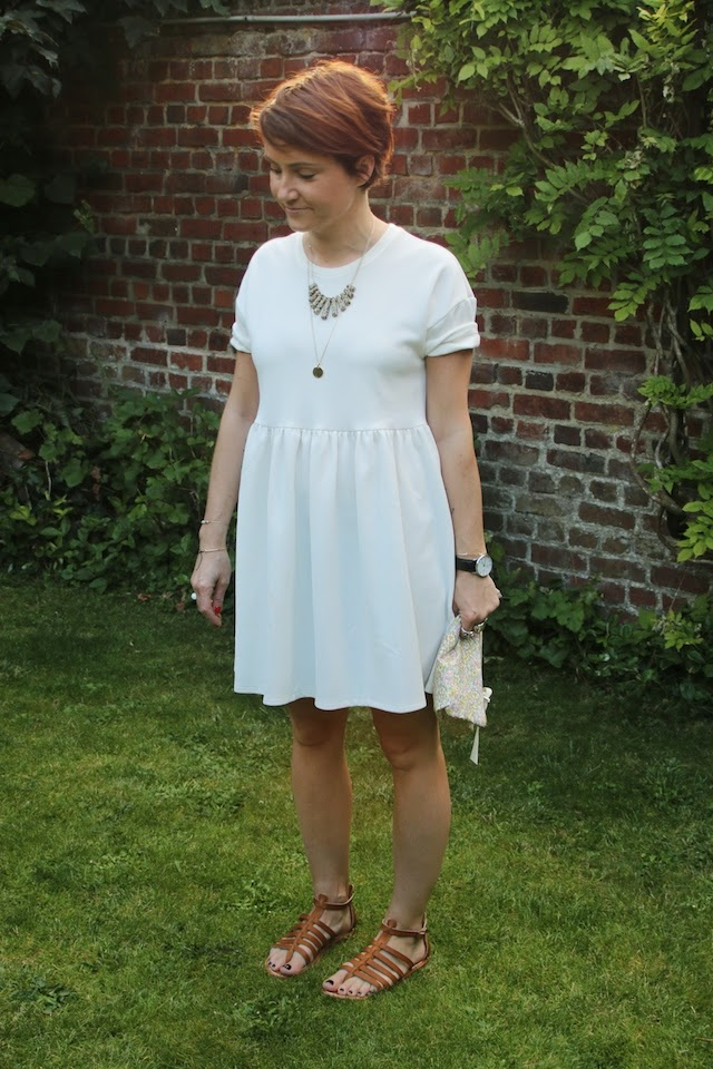 robe blanche, asos, spartiates, kjacques, liberty, navy outfit, juste juliette, pretty sire, fashion blogger, blog mode lille